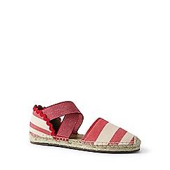 Lands' End - Red cross-strap espadrille sandals