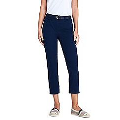 Lands  End - Blue Mid Rise Chino Cropped Trousers 3a4e46e4508