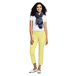 Lands' End - Yellow Mid Rise Chino Cropped Trousers