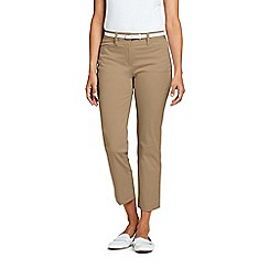 Lands' End - Beige Mid Rise Chino Cropped Trousers
