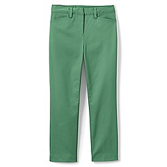 Lands' End - Green mid rise chino cropped trousers