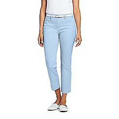 Lands' End - Blue Mid Rise Chino Cropped Trousers