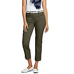 Lands' End - Green Petite Chino Cropped Trousers