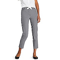 Lands' End - Black Chino Cropped Check Trousers