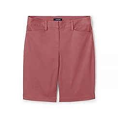 Lands' End - Pink Womes Mid Rise Bermuda Chino Shorts