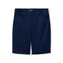 Lands' End - Blue womes mid rise bermuda chino shorts