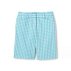 Lands' End - Blue womens 10 inch chino Bermuda shorts