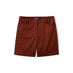 Lands' End - Brown Classic Shorts In Your Favourite Stretch Chino Fabric