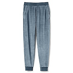 Lands' End - Blue womens soft leisure velour joggers