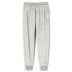 Lands' End - Grey womens soft leisure velour joggers
