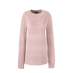 Lands' End - Pink  lofty cotton tunic jumper
