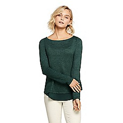 Lands' End - Green petite viscose blend split-back top