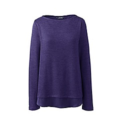 Lands' End - Purple petite viscose blend split-back top
