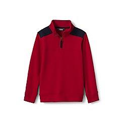 Lands' End - Boys' red half-zip sweatshirt