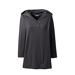 Womens Plus Soft Leisure Dolman Sleeve V-neck Hoodie - 20-22 - BROWN Lands End 100% Guaranteed For Sale DBW3p