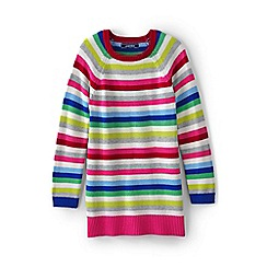 Lands' End - Girls' multi striped tunic-length jumper