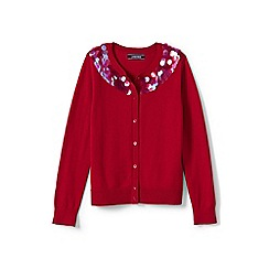 Lands' End - Girls' red sophie cardigan