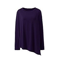 Lands' End - Purple cotton/modal asymmetrical top
