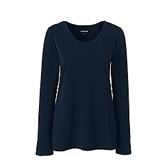 Lands' End - Blue petite long sleeve jersey pyjama top