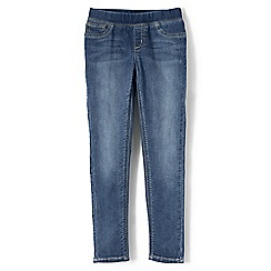 Lands' End - Girls' blue pull-on denim jeggings
