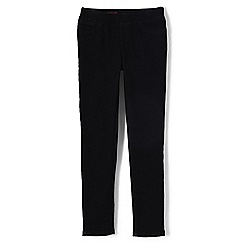 Lands' End - Girls' black pull-on black jeggings