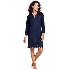 Lands' End - Blue scallop hem cover-up dress