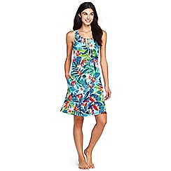 Lands' End - Multi flounce swim cover-up paradise floral dress