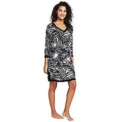 Lands' End - Multi havana palm cotton beach dress