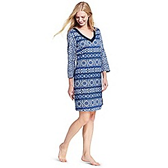 Lands' End - Multi cotton majolica print beach dress