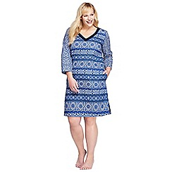 Lands' End - Multi plus cotton majolica print cover-up