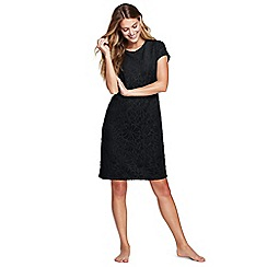 Lands' End - Black textured towelling beach dress