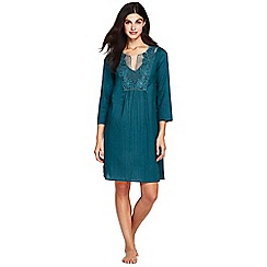 Lands' End - Blue notch neck tunic cover-up dress