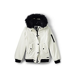Lands' End - Girls' white squall bomber jacket