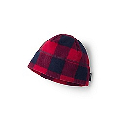 Lands' End - Boys' red printed fleece beanie hat