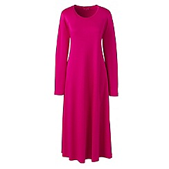 Lands' End - Pink supima long sleeves calf-length nightdress