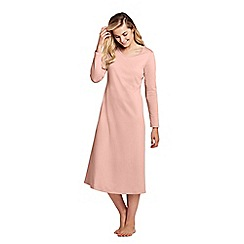 Lands' End - Beige supima long sleeve calf-length nightdress