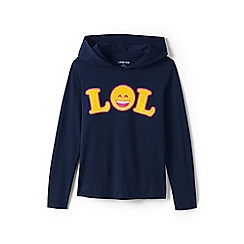 Lands' End - Blue girls' graphic super-t hoodie