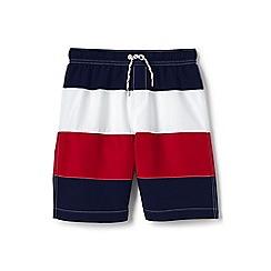 Lands' End - Blue boys' colour block swim shorts
