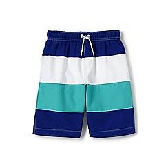 Lands' End - Boys' blue colourblock swim shorts