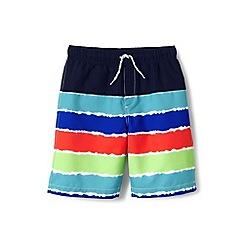 Lands' End - Multi boys' tie-dye stripe swim shorts