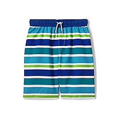 Lands' End - Boys' blue patterned swim shorts