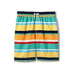 Lands' End - Yellow boys' printed swim shorts