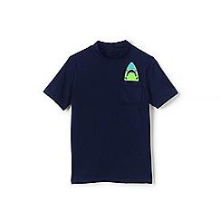 Lands' End - Boys' Blue  pocket graphic rash vest
