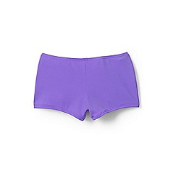 Lands' End - Girls' purple  smart swim swim shorts