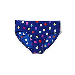 Lands' End - Girls' blue  smart swim printed bikini bottoms