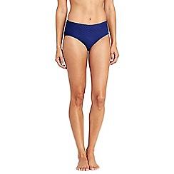 Lands' End - Blue textured high waist bikini bottoms