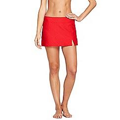 Lands' End - Orange textured mini swim skirt