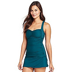 Lands' End - Blue cross back tankini top