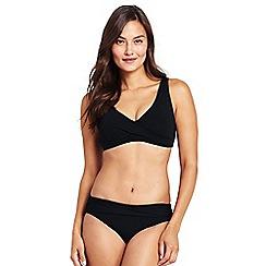 Lands' End - Black wrap front bikini top