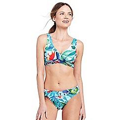 Lands' End - Multi wrap front floral bikini top